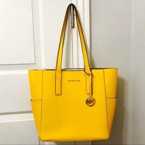{Michael Kors} Grain Leather Jasmine Yellow Tote